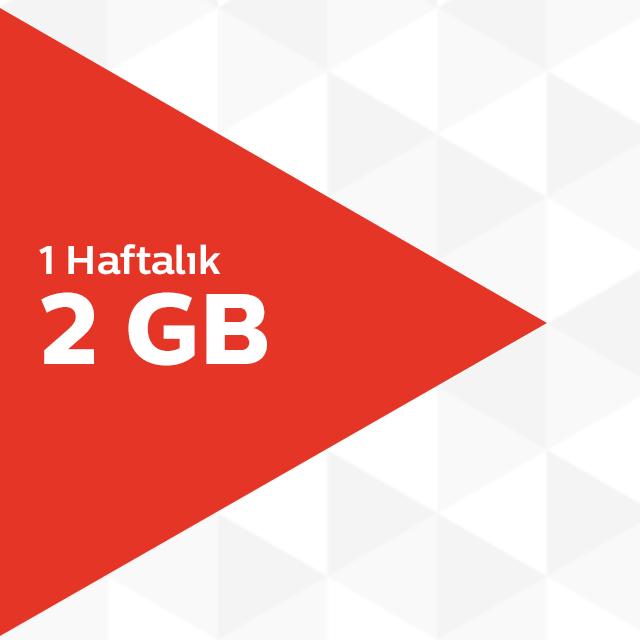 1 Haftalık 2GB İnternet Paketi