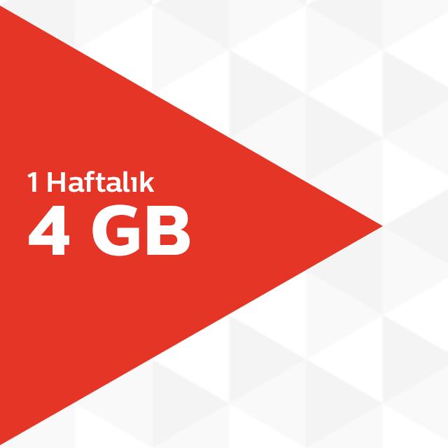 1 Haftalık 4GB İnternet Paketi