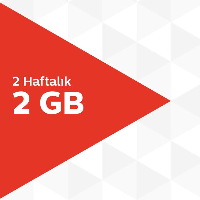 2 Haftalık 2GB İnternet Paketi