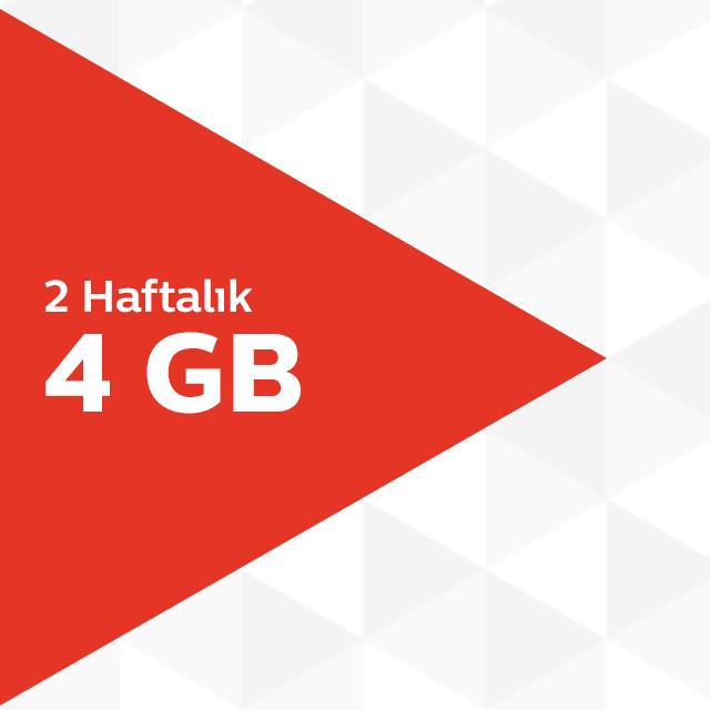 2 Haftalık 4GB İnternet Paketi